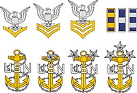 U.S. Navy enlisted officer collar devices