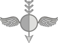 Векторный клипарт: U.S. Navy rating insignia, Aerographer`s Mate (AG)