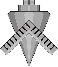 Векторный клипарт: U.S. Navy rating insignia, Builder (BU)