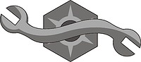 Векторный клипарт: U.S. Navy rating insignia, Construction Mechanic (CM)