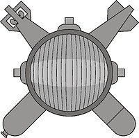 Векторный клипарт: U.S. Navy rating insignia, Explosive Ordnance Disposal Technician (EOD)