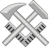 Векторный клипарт: U.S. Navy rating insignia, Hull Maintenance Technician (HT)