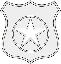 Векторный клипарт: U.S. Navy rating insignia, Master-at-Arms (MA)