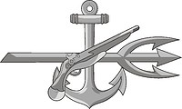 Векторный клипарт: U.S. Navy rating insignia, Special Warfare Operator (SO)