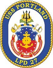 Векторный клипарт: U.S. USS Portland (LPD 27), crest