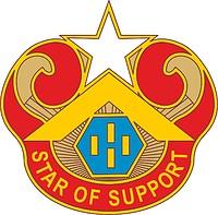 Векторный клипарт: U.S. Army 694th Maintenance Battalion, эмблема (знак различия)