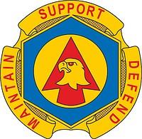 Векторный клипарт: U.S. Army 734th Maintenance Battalion, эмблема (знак различия)