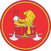 Векторный клипарт: Военная комендатура Москвы, нарукавный знак отдельного комендантского полка (почётный караул сухопутных войск)