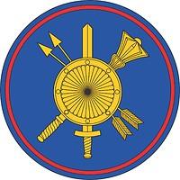 Векторный клипарт: Ракетные войска стратегического назначения России (РВСН), нарукавный знак Командования