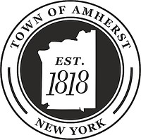 Amherst (New York), seal (black & white)