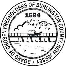 Burlington county (New Jersey), seal (black & white)