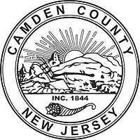 Camden county (New Jersey), seal (black & white)
