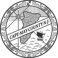 Cape May county (New Jersey), seal (black & white)