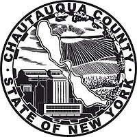 Chautauqua county (New York), seal (black & white)