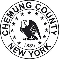 Chemung county (New York), seal (black & white)
