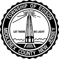 Edison (New Jersey), seal (black & white)