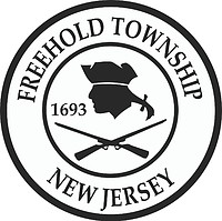 Freehold (New Jersey), seal (black & white)