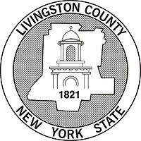 Livingston county (New York), seal (black & white)