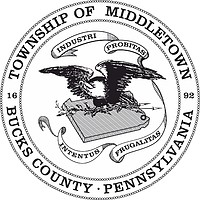 Middletown (Bucks County, Pennsylvania), seal (black & white)
