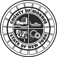 Monroe county (New York), seal (black & white)