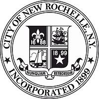 New Rochelle (New York), seal (black & white)