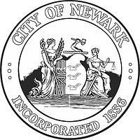 Newark (New Jersey), seal (black & white)