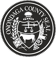 Onondaga county (New York), seal (black & white)