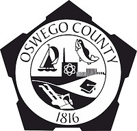 Oswego county (New York), seal (black & white)