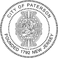 Paterson (New Jersey), seal (black & white)