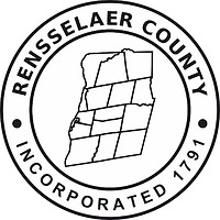 Rensselaer county (New York), seal (black & white)