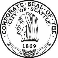 Seattle (Washington), former seal (black/white)