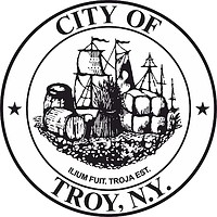 Troy (New York), seal (black & white)