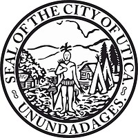 Utica (New York), seal (black & white)