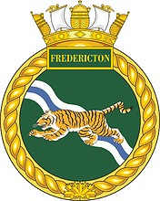 Canadian Navy HMCS Fredericton (FFH 337), frigate badge (crest)