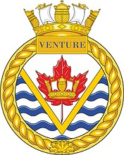 Canadian Navy HMCS Venture, badge (crest)