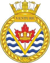 Canadian Navy HMCS Venture, badge (crest)