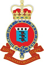 Royal Canadian Ordnance Corps (RCOC), emblem (badge)