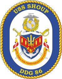 U.S. Navy USS Shoup (DDG 86), destroyer emblem (crest)