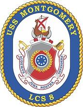 U.S. Navy USS Montgomery (LCS 8), littoral combat ship emblem (crest)