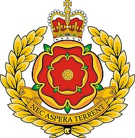 British Duke of Lancaster`s Regiment (LANCS), badge