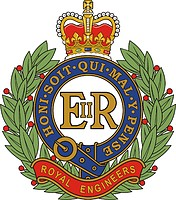 British Corps of Royal Engineers (RE), badge