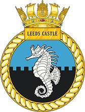 British Navy HMS Leeds Castle, crest