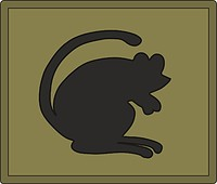 British 4th Infantry Brigade and Headquarters North East (The Black Rats), sleeve insignia
