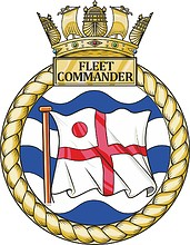 British Navy Fleet Commander, emblem (crest)