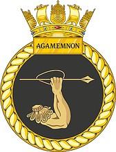 British Navy HMS Agamemnon (S124), emblem (crest)