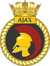 British Navy HMS Ajax (S125), emblem (crest)