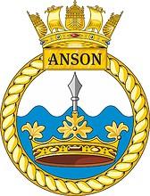 British Navy HMS Anson (S123), emblem (crest)