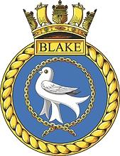 British Navy HMS Blake (C99), emblem