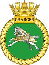 British Navy HMS Charger (P292), emblem (crest)