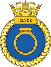 British Navy HMS Clyde (P257), emblem (crest)